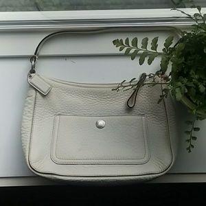 Coach   Ivory Leather Hobo Handbag